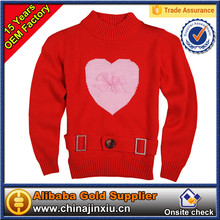 Children's Clothing Girls pullover 12 gg computer knitted 100% Cotton 2-6 years sweater brands