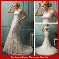 WD-1886 All lace overlay keyhole back 2015 wholesale wedding dresses made in usa
