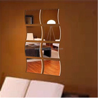 Removable Decorative Acrylic Mirror Stickers Islam/Self Made Home Decoration Acrylic Mirror Wall Stickers
