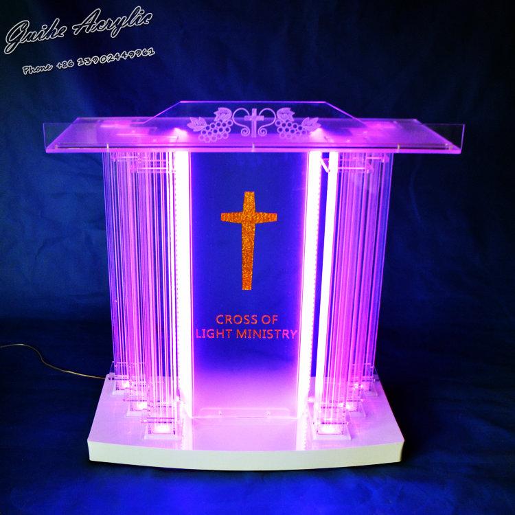 GUIHEYUN Grand acryl kerk podium plexiglas preekstoel priest ...