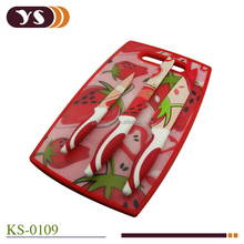 4-pieces Non-stick coating kitchen knife and cutting board set