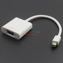 White Active Mini Displayport DP to VGA RGB Female adapter cable support ATI eyefinity
