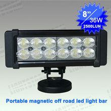 2012 New led light bar with magnetic base ,cigar lighter, portable led car light 12v