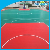 Factory price durable interlocking pp basketball floor