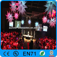 oxford cloth inflatable lighting, inflatable lighting tower, inflatable star for music party