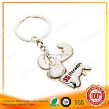 Wholesale fashion custom made metal lego keychain for souvenir