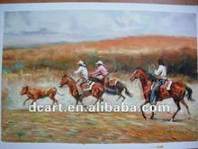 New Modern Cowboy Oil Painting