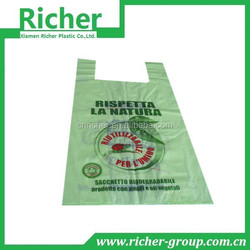 Plastic shopping bag for food packaging,t shirt bag for supermarket shopping