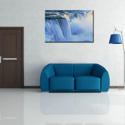 Home Decor Custom Colorful Waterfall Landscape Oil Painting