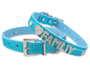 Crystal Rhinestone Letters Soft Leather Dog Pet Collar