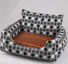 Luxury dog sofa bed pet bed with mat