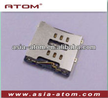 Micro Sim Card Connector 6P SMT Connector Smart phone USIM Card Connector H=1.7mm