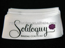factory price soft satin printed clothing garment label made in China