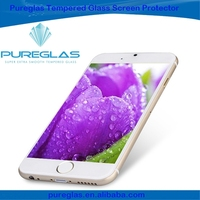 Europe sold well ultra thin tempered glass mobile phone for iphone 6, Pureglas brand 2.5 round edge screen protector
