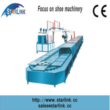 Wenzhou Starlink Hot Sale 19m 60 stations Production Line inject PU lady shoe sole moulding machine