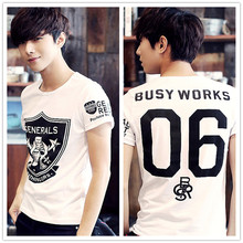 Men's summer cotton short-sleeved T-shirt Korean Slim tide brand men's short-sleeve T-shirt manufacturers, wholesale