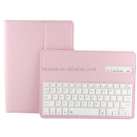 New china supplier Keyboard Detachable Bluetooth Keyboard Smart Leather Case with Wake-up Function for iPad Air 2