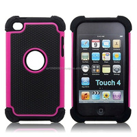 Triple Defender Case For Ipod Touch4 With 11 Colors , Factory Price