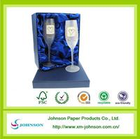 Wedding Two crystal wine glass gift box