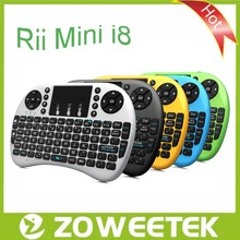 Rii mini i8 2.4G Wireless German Keyboard with Touchpad For Smart TV