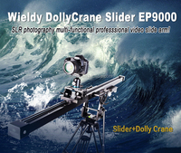 Wieldy dslr video slider/crane jib profession photographers use