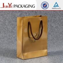 Alibaba manufacture beautiful brown kraft paper bag handle design for gift