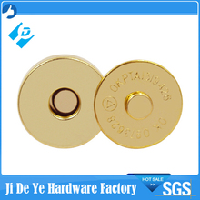 18mmx4mm gold iron magnet button for purse