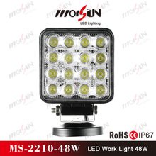 High Power 48w Aluminum profile led work light atv 4x4 snow, Super Bright long life led truck light 24v