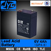 super quality rechargeable lead acid 4ah 6v battery