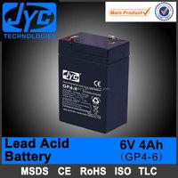 super quality rechargeable lead acid 4ah 6v battery