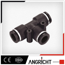 A107 Good quality plastic equal tee , air line fitting, push in pneumatic components