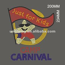 Camp carnival just for kids hotfix transfer rhinestones