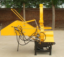 tractor pto wood crusher with hdyraulic feeding