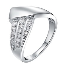 Fashion accessories gorgeous rhodium plated silver men ring
