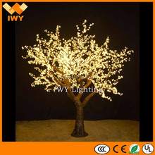 Artificial H300cm Environmental PVC Waterproof Outdoor LED Garden Decorative Tree Light With 3456LEDs