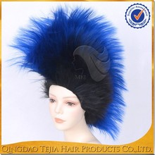 Synthetic Kanekalon Toyokalon Japanese Fiber Specialized Blue Black TT Colored Cosplay Wig