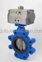 Double Eccentric Soft Seal A216 WCB Carbon Steel Butterfly Valve with high quality