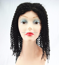 20'' middle part front lace wig kinky curl natural color lace front wig