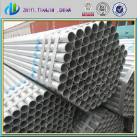 Greenhouse and scaffoldings used hot dip galvanized steel pipe / pre galvanized pipe