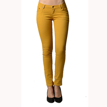 Women's Colored Cotton Denim Jeans