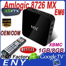 2014 best sales EM6 XBMC android 4.2 wifi tv dual core smart set top box