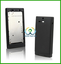 Full Housing Cover Replacement Back Cover Complete Part for Sony U ST25i ST25 (Black)