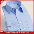 Los hombres de arrugas- resistente a los clásicos de la camisa azul marino sólido camisa
