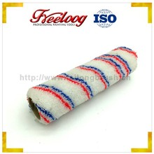 Double color stripes paint roller brush, high quality patterned roller brush