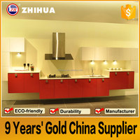 OEM fashion 2pc paint Lacquer Kitchen cabinet manufacturer in china