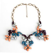 European and American Korean fashion jewelry wholesale direct factory in Europe and America Branded jewels flower necklace