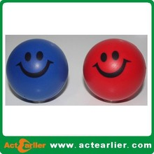custom printed pu anti stress ball with smile