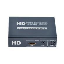 S-VIDEO+STEREO+VGA+RCA/ Converter To HDMI converter 1080P