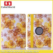 Flower case cover dot rotating pu leather case for ipad 2 3 4 air mini