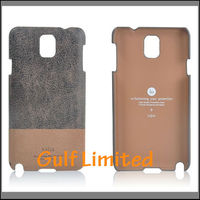 Leather back cover case fit for samsung galaxy note3 n9005